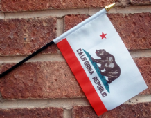 HAND WAVING FLAG (SMALL) - California